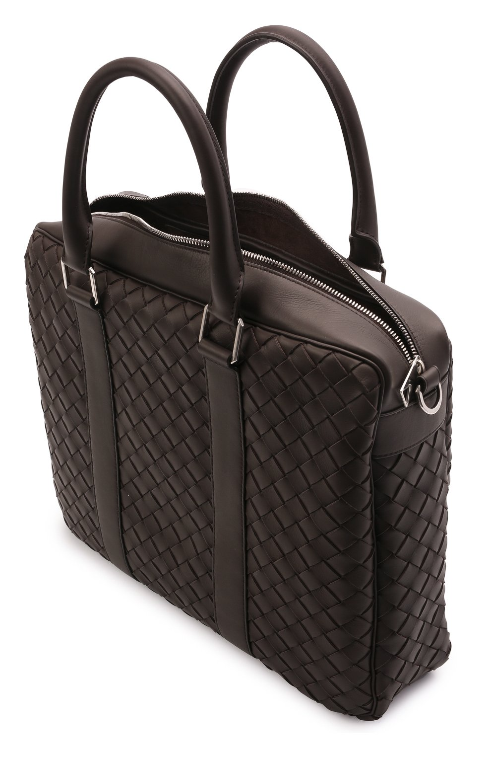 Мужская кожаная сумка для ноутбука BOTTEGA VENETA темно-коричневого цвета, арт. 650372/V0E51 | Фото 4