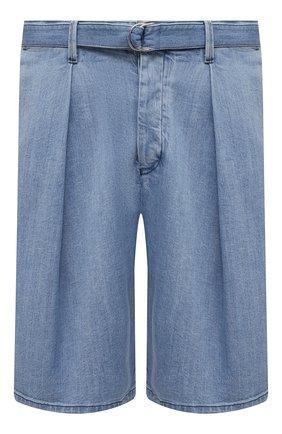 Мужские джинсовые шорты GIORGIO ARMANI синего цвета, арт. 3KSP63/SD0TZ | Фото 1