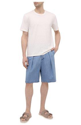 Мужские джинсовые шорты GIORGIO ARMANI синего цвета, арт. 3KSP63/SD0TZ | Фото 2