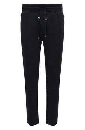 Мужские хлопковые брюки LIMITATO темно-синего цвета, арт. TYPE/TRACK PANTS | Фото 1 (Длина (брюки, джинсы): Стандартные; Случай: Повседневный; Материал внешний: Хлопок; Стили: Кэжуэл)