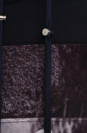 Мужской хлопковое худи LIMITATO темно-синего цвета, арт. SEE N0 EVIL/H00DED SWEATSHIRT | Фото 5 (Рукава: Длинные; Длина (для топов): Стандартные; Принт: С принтом; Мужское Кросс-КТ: Худи-одежда; Материал внешний: Хлопок; Стили: Кэжуэл)
