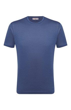 Мужская хлопковая футболка LUCIANO BARBERA синего цвета, арт. 119565/81213 | Фото 1