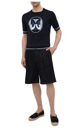 Мужские текстильные эспадрильи DOLCE & GABBANA черного цвета, арт. A50445/A0298 | Фото 2