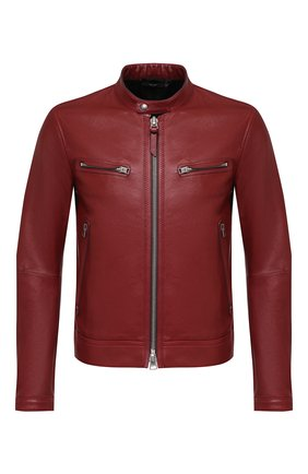 Мужская кожаная куртка TOM FORD бордового цвета, арт. BW486/TFL822 | Фото 1
