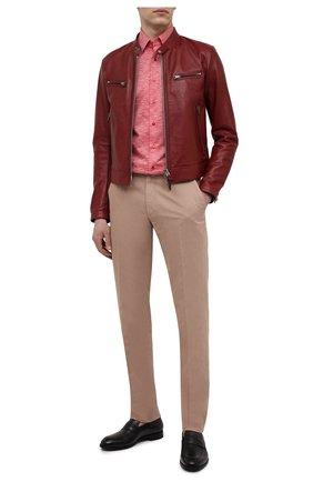 Мужская кожаная куртка TOM FORD бордового цвета, арт. BW486/TFL822 | Фото 2