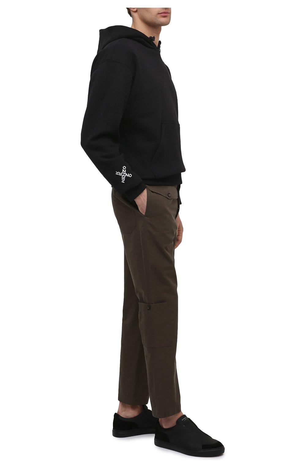 Мужские кожаные кеды jaunty HARRYS OF LONDON черного цвета, арт. 372/103 | Фото 2 (Материал внутренний: Натуральная кожа; Подошва: Плоская)