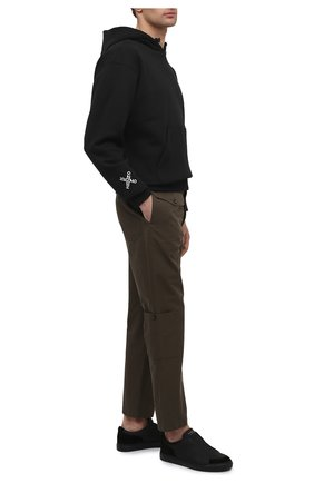 Мужские кожаные кеды jaunty HARRYS OF LONDON черного цвета, арт. 372/103 | Фото 2