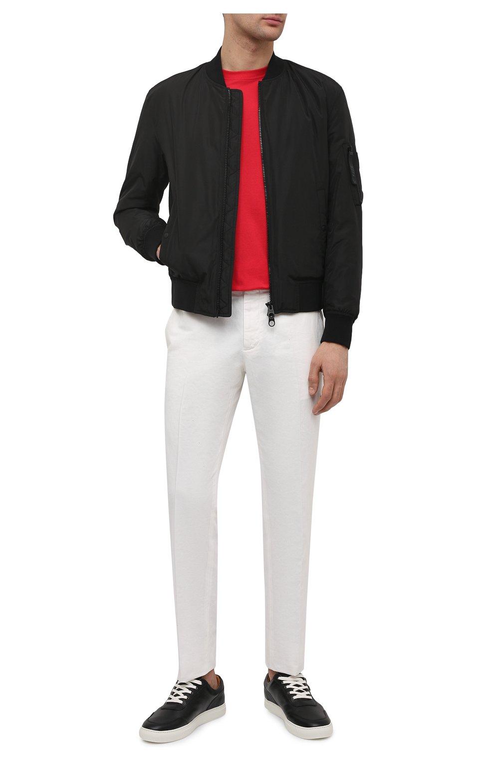 Мужские кожаные кеды HARRYS OF LONDON черного цвета, арт. 485/466   Фото 2 (Материал внутренний: Натуральная кожа; Подошва: Массивная)