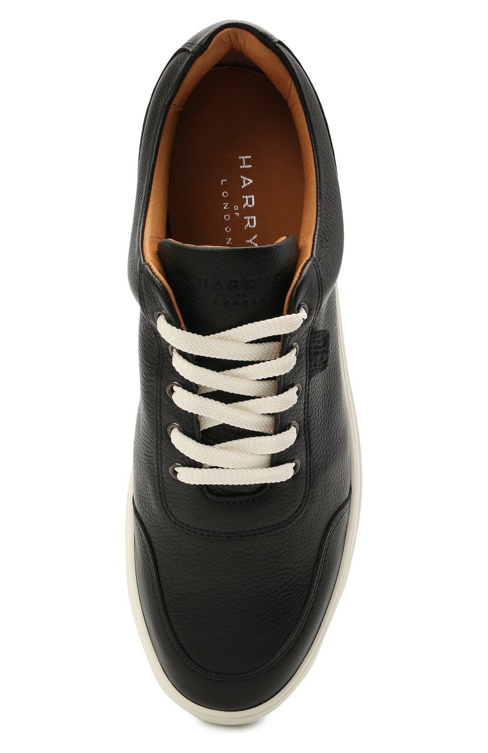 Мужские кожаные кеды HARRYS OF LONDON черного цвета, арт. 485/466   Фото 5 (Материал внутренний: Натуральная кожа; Подошва: Массивная)