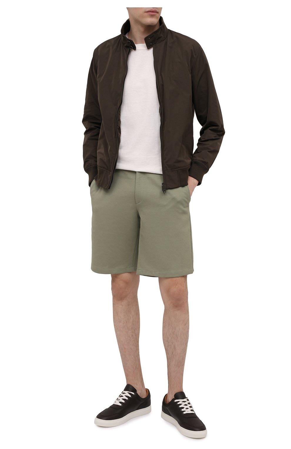 Мужские кожаные кеды HARRYS OF LONDON темно-коричневого цвета, арт. 485/466 | Фото 2 (Материал внутренний: Натуральная кожа; Подошва: Массивная)