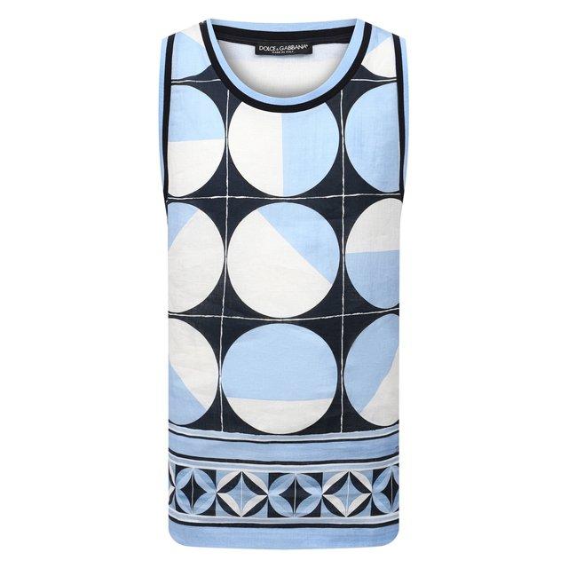 Льняная майка Dolce & Gabbana
