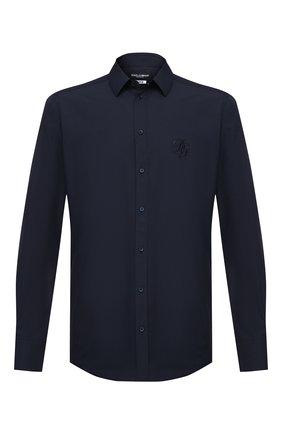 Мужская хлопковая рубашка DOLCE & GABBANA синего цвета, арт. G5EJ1Z/GEN86 | Фото 1