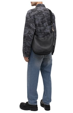 Мужская кожаная сумка VALENTINO черного цвета, арт. VY0B0A77/QPT   Фото 2