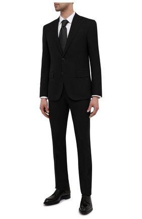 Мужская хлопковая сорочка ETON белого цвета, арт. 1000 02558 | Фото 2 (Рубашки М: Slim Fit; Рукава: Длинные; Случай: Формальный; Стили: Классический; Длина (для топов): Стандартные; Манжеты: На пуговицах; Материал внешний: Хлопок; Принт: Однотонные; Воротник: Кент)