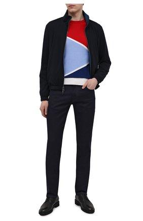 Мужской джепер из хлопка и шелка IL BORGO CASHMERE разноцветного цвета, арт. 56-2150G0   Фото 2