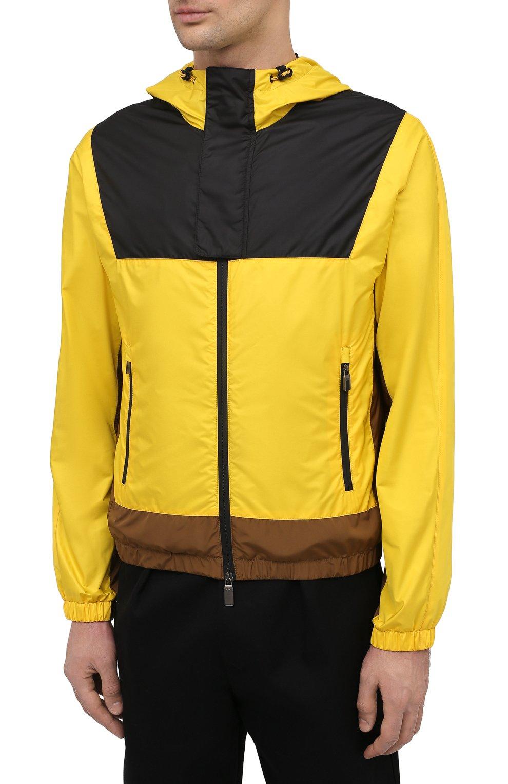 Мужской бомбер CANALI желтого цвета, арт. 040611/SY01617 | Фото 3
