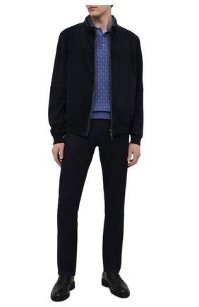Мужские джинсы CANALI темно-синего цвета, арт. 91751/PX00816 | Фото 2