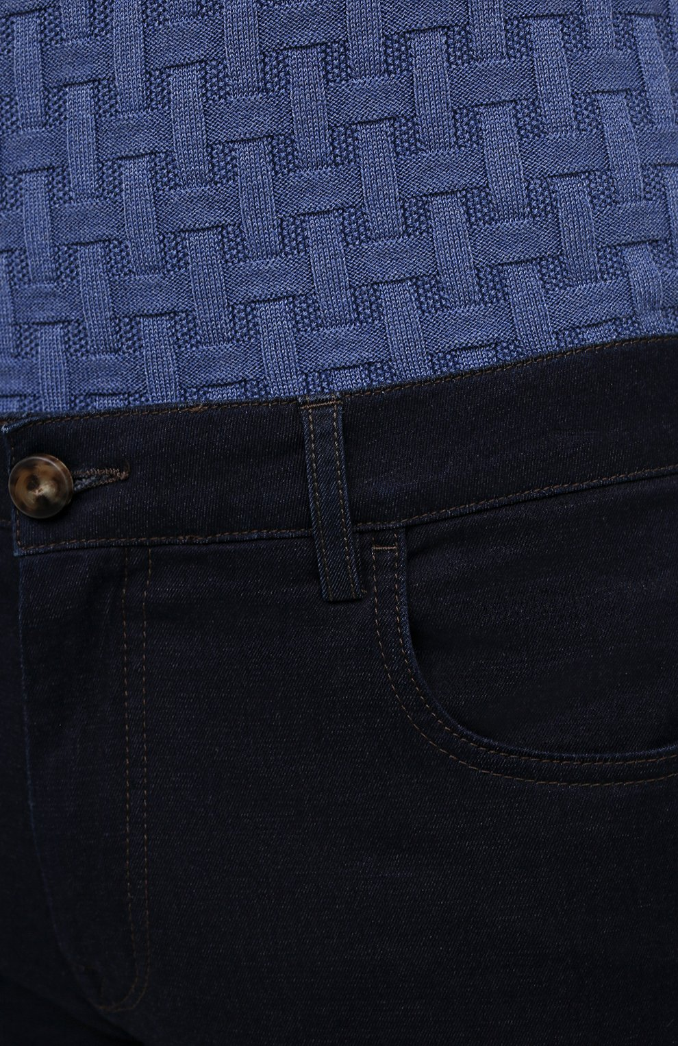 Мужские джинсы CANALI темно-синего цвета, арт. 91751/PX00816 | Фото 5