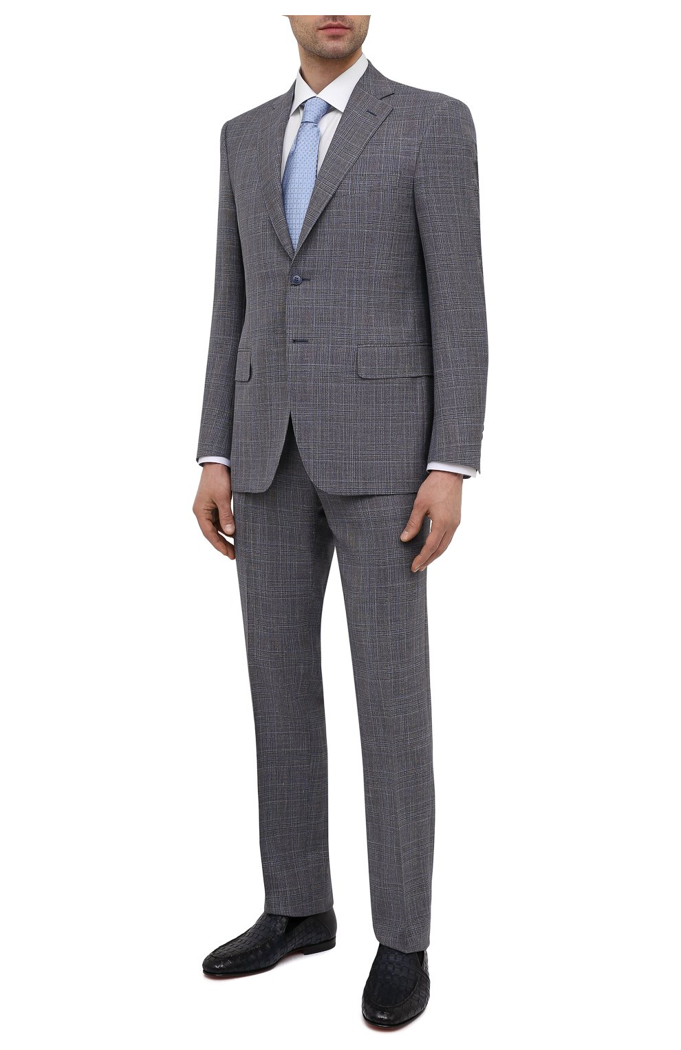 Мужской костюм из шерсти и шелка CANALI темно-серого цвета, арт. 13290/31/BF01052   Фото 1