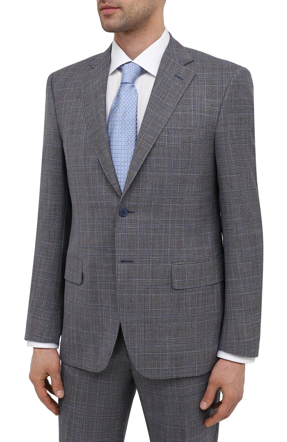 Мужской костюм из шерсти и шелка CANALI темно-серого цвета, арт. 13290/31/BF01052   Фото 2