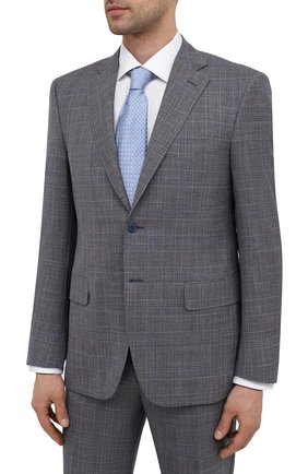 Мужской костюм из шерсти и шелка CANALI темно-серого цвета, арт. 13290/31/BF01052 | Фото 2