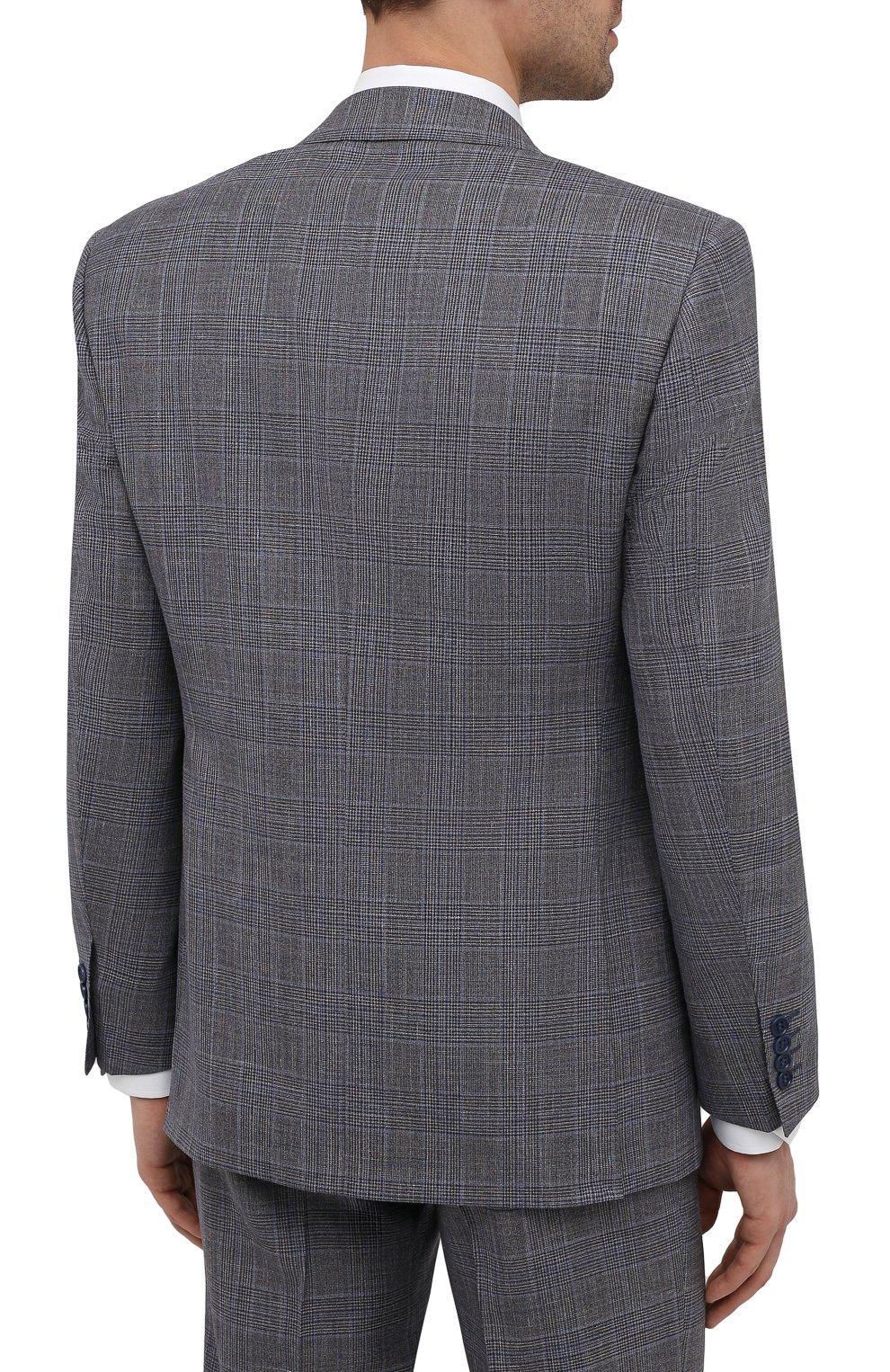 Мужской костюм из шерсти и шелка CANALI темно-серого цвета, арт. 13290/31/BF01052   Фото 3