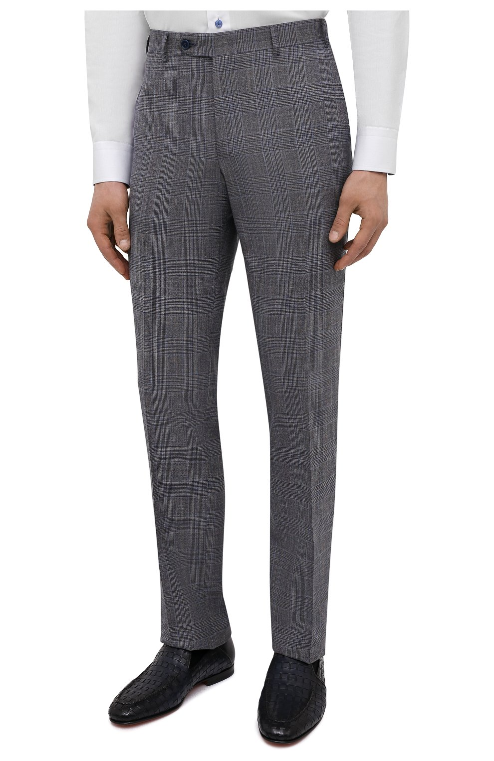 Мужской костюм из шерсти и шелка CANALI темно-серого цвета, арт. 13290/31/BF01052   Фото 4