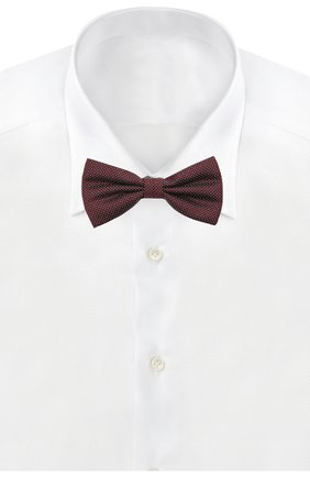 Мужской шелковый галстук-бабочка CANALI бордового цвета, арт. 02/HJ03186 | Фото 2