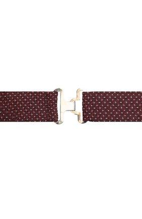 Мужской шелковый галстук-бабочка CANALI бордового цвета, арт. 02/HJ03186 | Фото 3