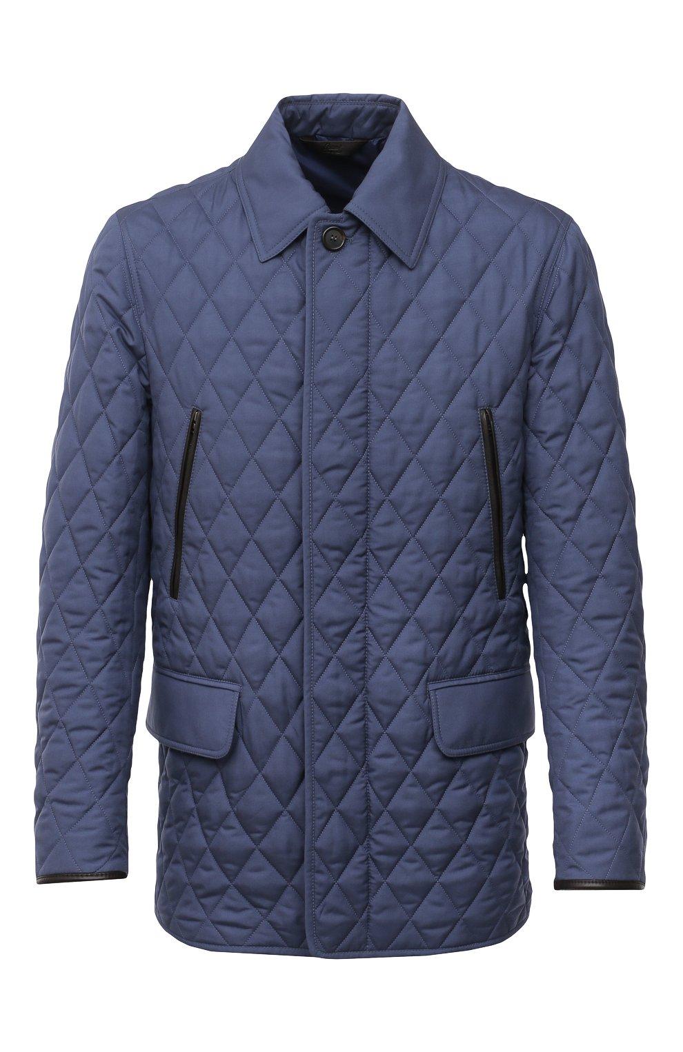 Мужская утепленная куртка BRIONI синего цвета, арт. SFN80L/P0410   Фото 1