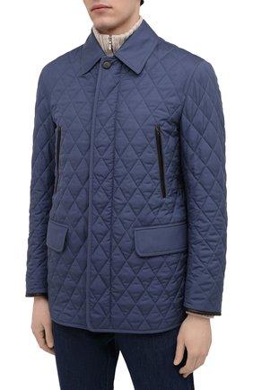 Мужская утепленная куртка BRIONI синего цвета, арт. SFN80L/P0410   Фото 3