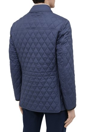 Мужская утепленная куртка BRIONI синего цвета, арт. SFN80L/P0410   Фото 4