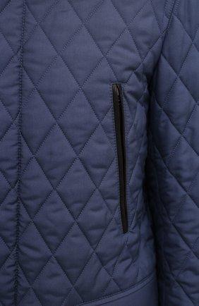 Мужская утепленная куртка BRIONI синего цвета, арт. SFN80L/P0410   Фото 5
