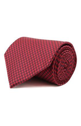 Мужской шелковый галстук BRIONI красного цвета, арт. 062H00/P0449   Фото 1