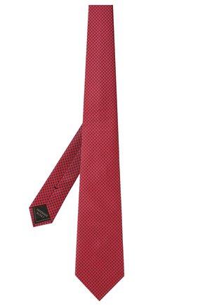 Мужской шелковый галстук BRIONI красного цвета, арт. 062H00/P0449   Фото 2