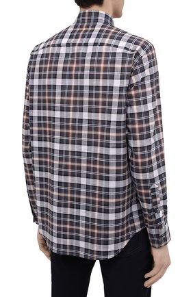 Мужская хлопковая рубашка BRIONI разноцветного цвета, арт. SCAY0L/P0003   Фото 4