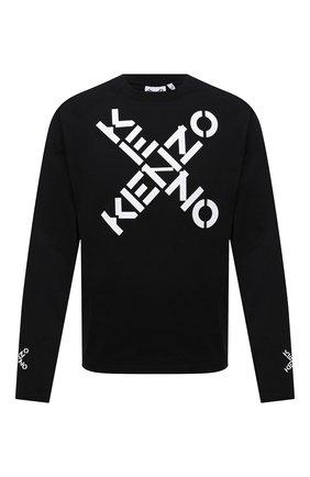 Мужская хлопковый лонгслив kenzo sport KENZO черного цвета, арт. FB55TS1534SK | Фото 1