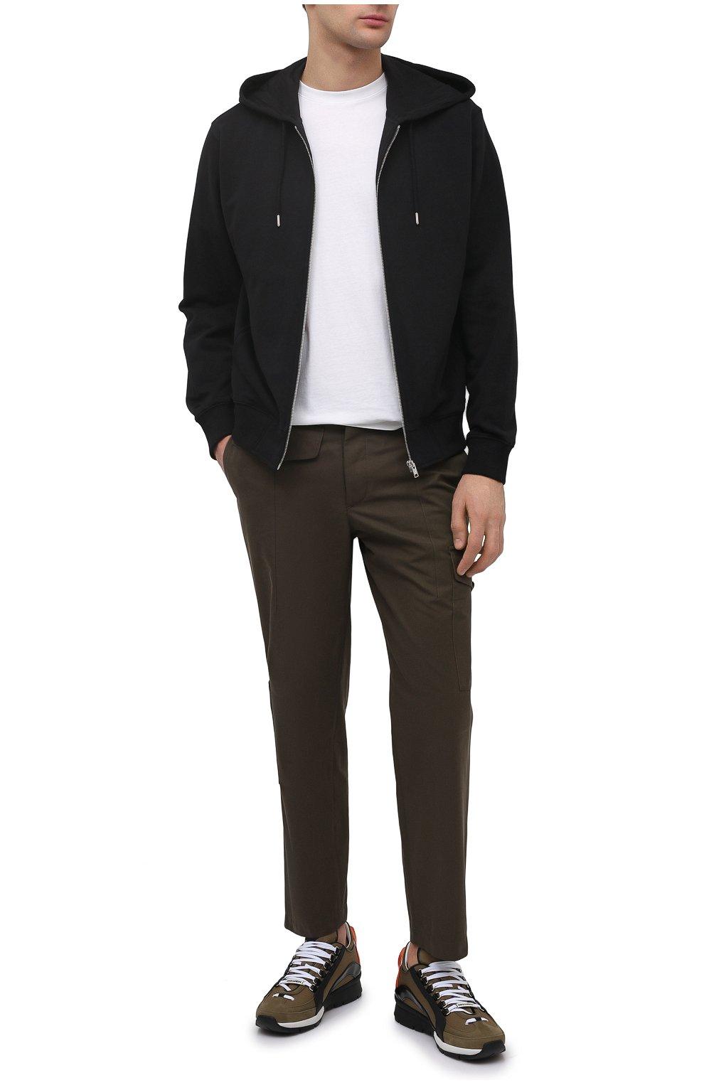 Мужская хлопковая футболка KENZO белого цвета, арт. FB55TS0034SA   Фото 2 (Принт: Без принта; Рукава: Короткие; Длина (для топов): Стандартные; Материал внешний: Хлопок; Стили: Кэжуэл)