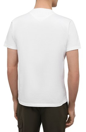 Мужская хлопковая футболка KENZO белого цвета, арт. FB55TS0034SA   Фото 4 (Принт: Без принта; Рукава: Короткие; Длина (для топов): Стандартные; Материал внешний: Хлопок; Стили: Кэжуэл)