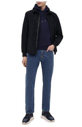 Мужской хлопковое худи KENZO синего цвета, арт. FB55SW3604ML | Фото 2