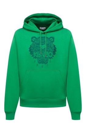 Мужской хлопковое худи KENZO зеленого цвета, арт. FB55SW3174XF | Фото 1