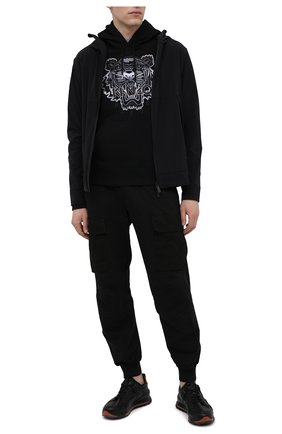 Мужской хлопковое худи KENZO черно-белого цвета, арт. FB55SW3164XG | Фото 2