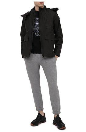 Мужской хлопковый свитшот KENZO черного цвета, арт. FB55SW1164XG | Фото 2