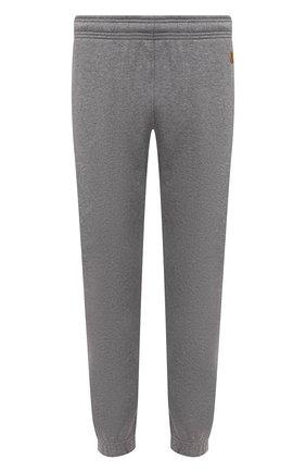 Мужские хлопковые джоггеры KENZO серого цвета, арт. FB55PA7114ML | Фото 1 (Силуэт М (брюки): Джоггеры; Мужское Кросс-КТ: Брюки-трикотаж; Материал внешний: Хлопок; Длина (брюки, джинсы): Стандартные)