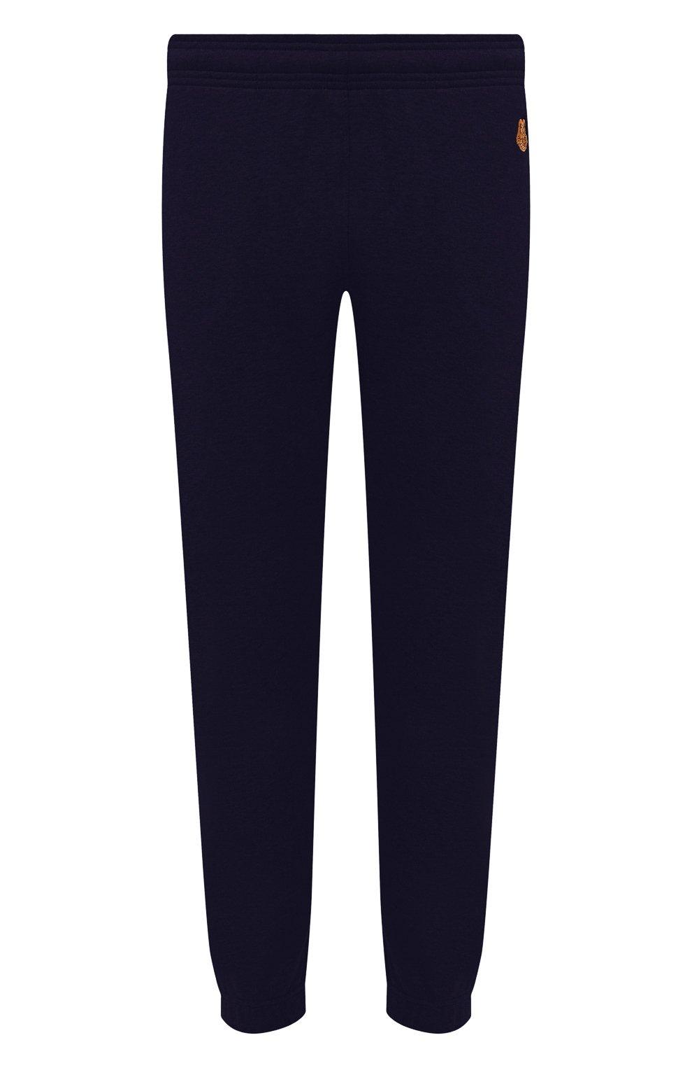 Мужские хлопковые джоггеры KENZO синего цвета, арт. FB55PA7114ML | Фото 1 (Мужское Кросс-КТ: Брюки-трикотаж; Длина (брюки, джинсы): Стандартные; Материал внешний: Хлопок; Силуэт М (брюки): Джоггеры)