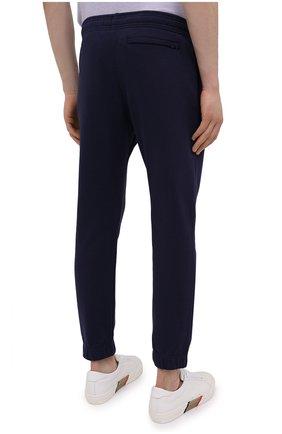Мужские хлопковые джоггеры KENZO синего цвета, арт. FB55PA7114ML | Фото 4 (Мужское Кросс-КТ: Брюки-трикотаж; Длина (брюки, джинсы): Стандартные; Материал внешний: Хлопок; Силуэт М (брюки): Джоггеры)