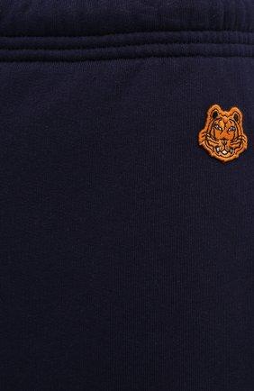 Мужские хлопковые джоггеры KENZO синего цвета, арт. FB55PA7114ML | Фото 5 (Мужское Кросс-КТ: Брюки-трикотаж; Длина (брюки, джинсы): Стандартные; Материал внешний: Хлопок; Силуэт М (брюки): Джоггеры)