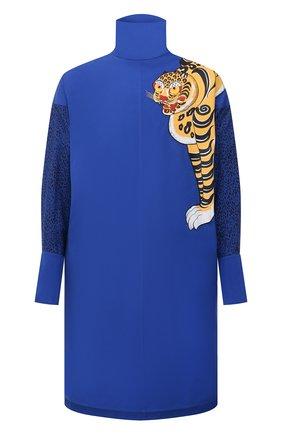 Мужская хлопковая рубашка kenzo x kansai yamamoto KENZO синего цвета, арт. FB55CH5619KE | Фото 1