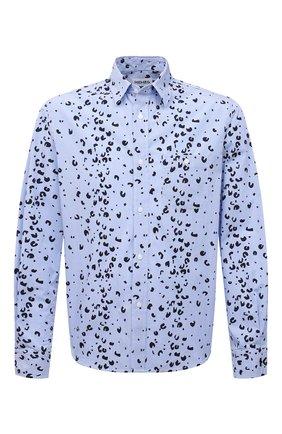 Мужская хлопковая рубашка KENZO синего цвета, арт. FB55CH4019LT | Фото 1