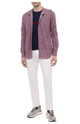 Мужская хлопковая рубашка KITON красного цвета, арт. UMCMARH0761102 | Фото 2 (Случай: Повседневный; Материал внешний: Хлопок; Длина (для топов): Стандартные; Рукава: Длинные; Стили: Кэжуэл; Воротник: С капюшоном; Рубашки М: Regular Fit; Манжеты: На кнопках; Принт: Клетка)